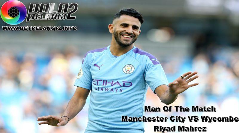 Manchester City vs Wycombe: Riyad Mahrez
